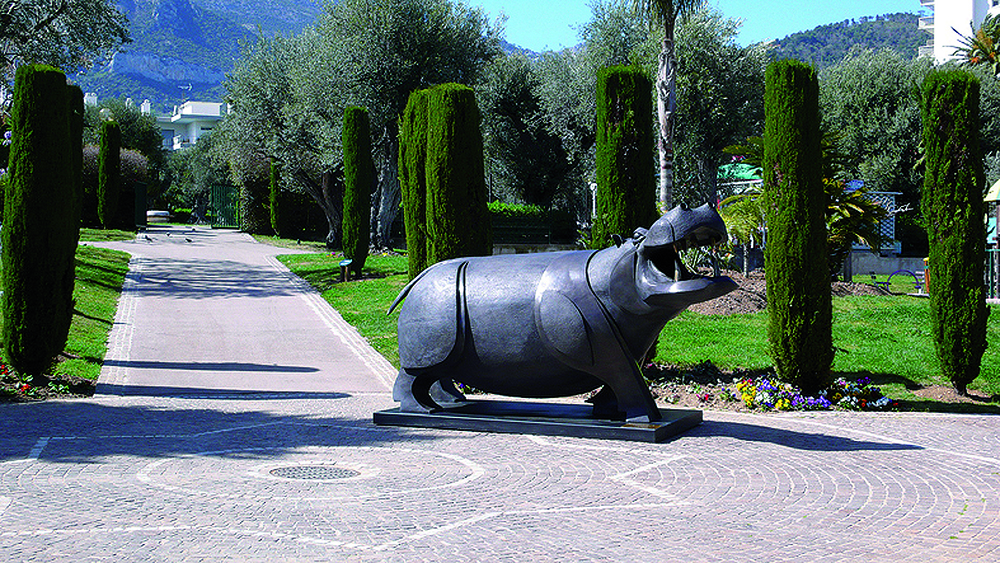 SCULPTURE Bronze HIPPOPOTAME GRAND