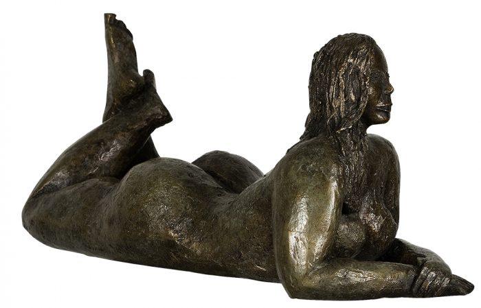 sculpture femme nue bronze