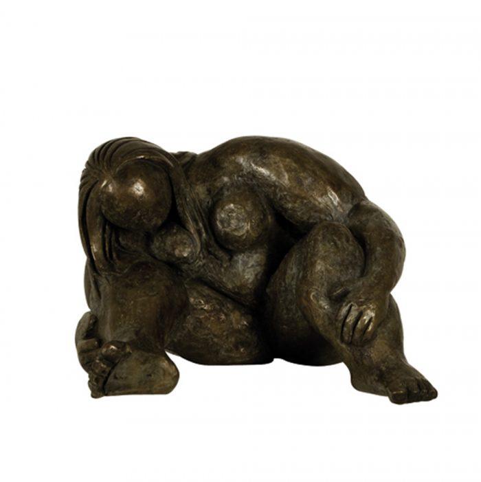 sculpture bronze femme aurore