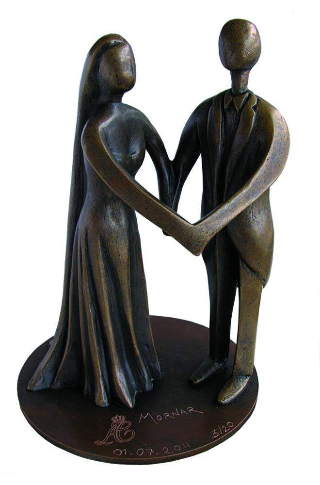 sculpture mariage prince de monaco