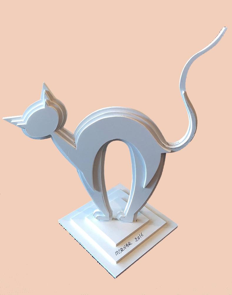 Sculpture Chat Plastique