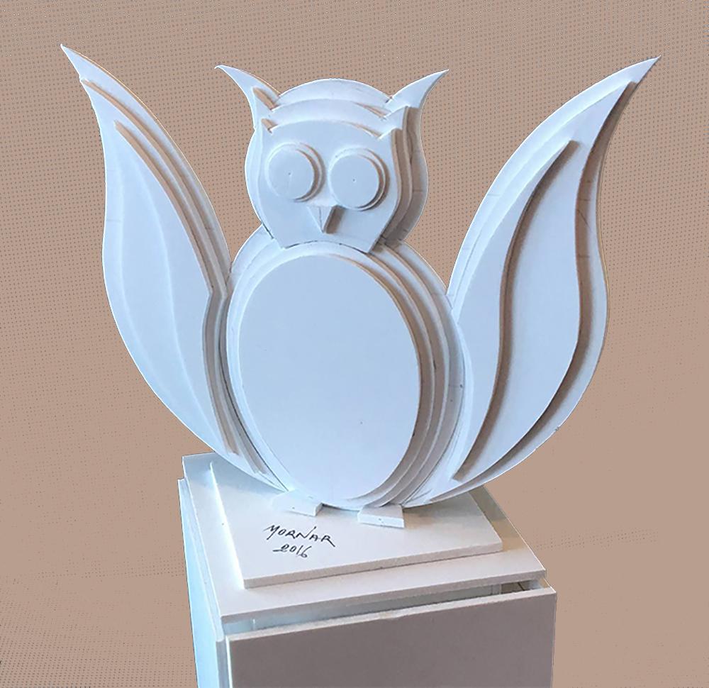 sculpture plastique chouette