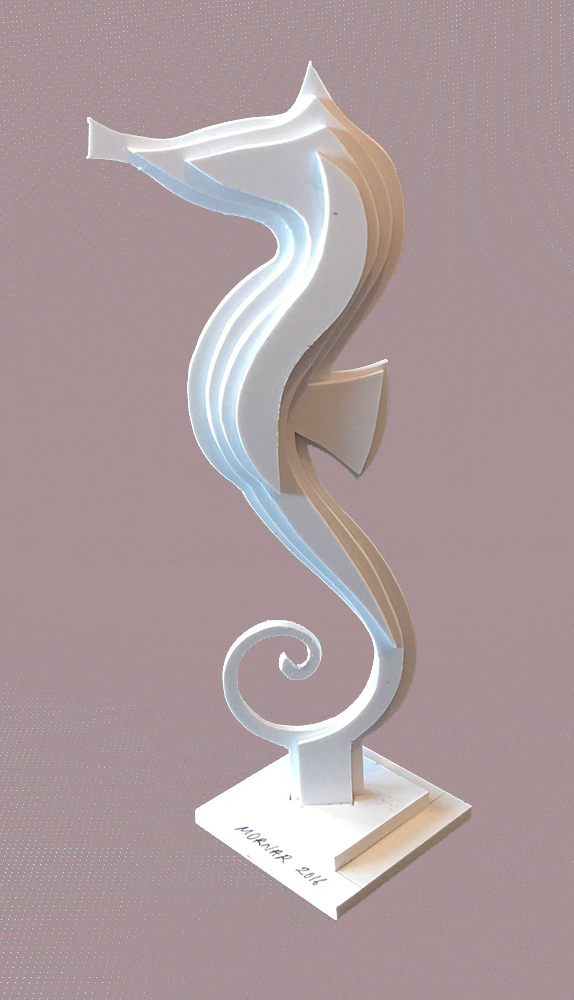 Sculpture Hippocampe Plastique