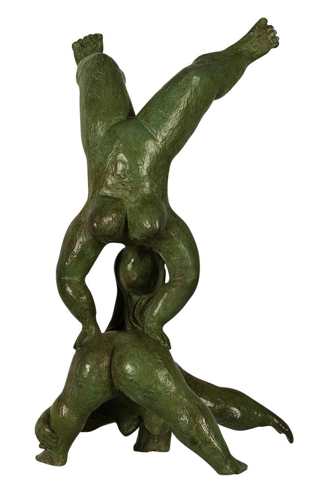 sculpture érotique bronze mornar