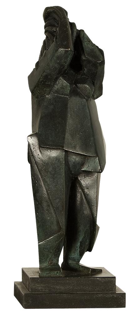 sculpture bronze femme
