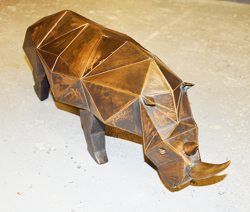 Sculpture Bronze Petit Rhinocéros